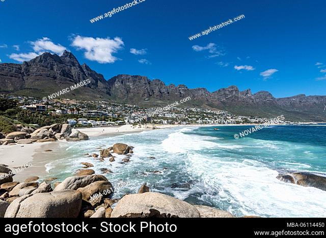 Camps Bay Beach, Cape Town, Western Cape, South Africa, Africa