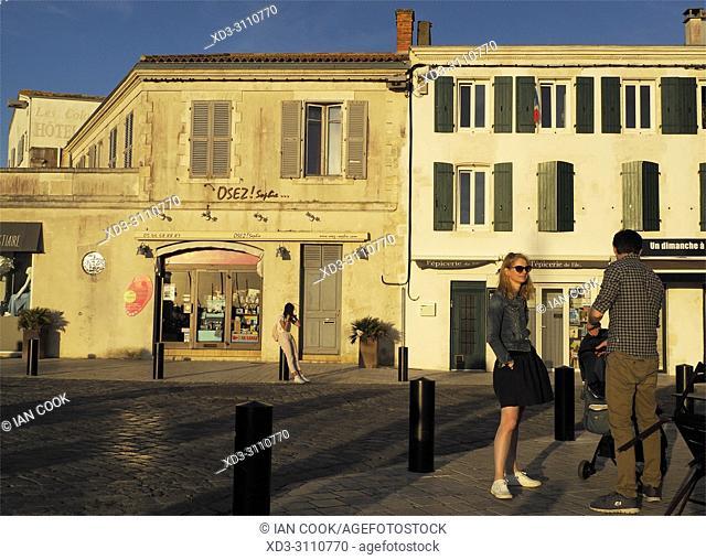 Quai Job Foran, Saint-Martin-de-Re, Ile de Re, Charente-Maritime Department, Nouvelle Aquitaine, France