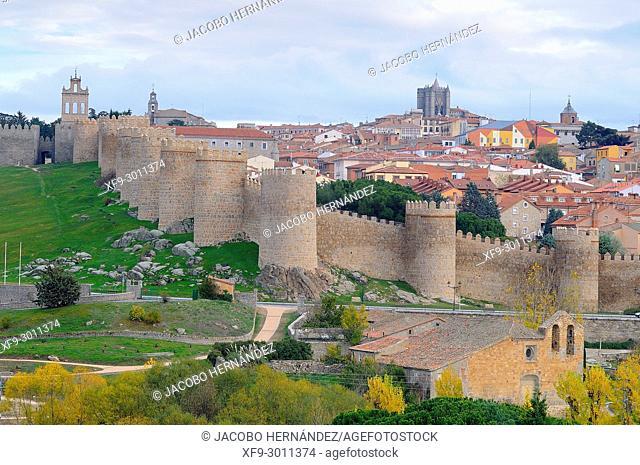 Medieval wall of Ávila. Castilla y León. Spain