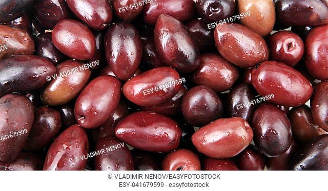 Black Olives For Sale At Market