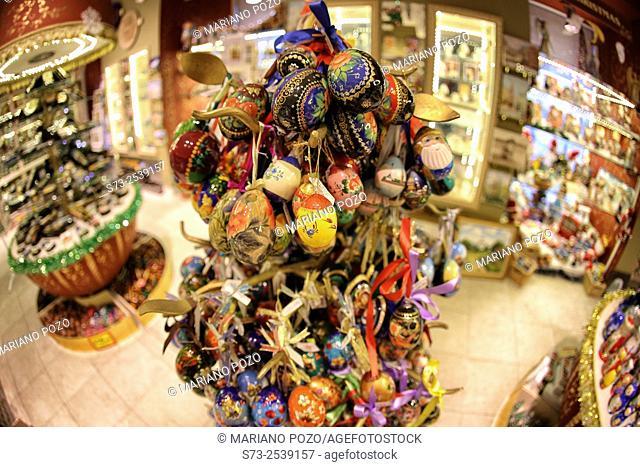 San Petersburg souvenir shop, Russian Federation, Russia