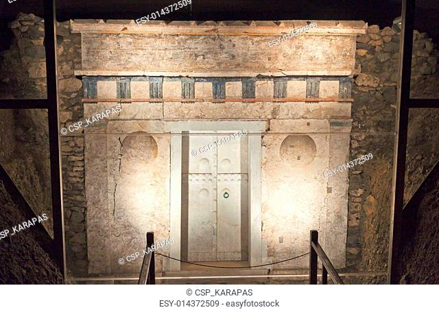 Ancient Macedonian tomb in Greece
