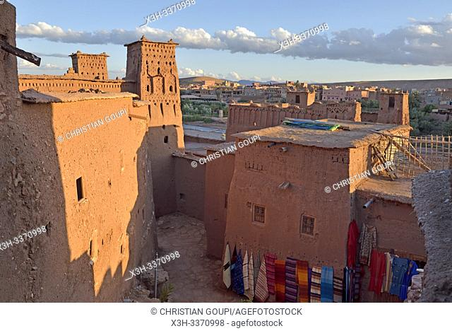 Ksar of Ait-Ben-Haddou, Ounila River valley, Ouarzazate Province, region of Draa-Tafilalet, Morocco, North West Africa