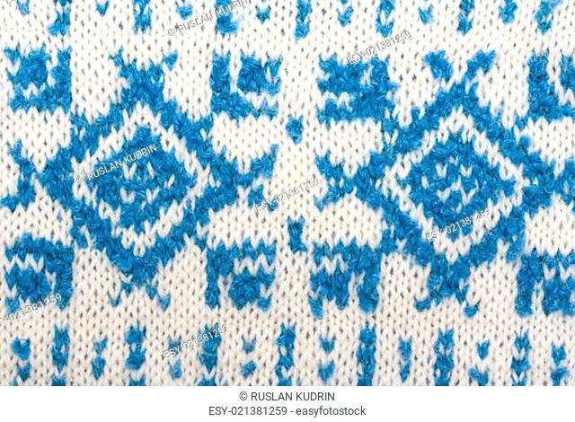 Knitted background with pattern