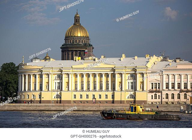 SAINT-ISAAC CATHEDRAL, BUILDINGS OF THE SENATE AND THE HOLY SYNOD, NEVA, SAINT PETERSBURG, RUSSIA