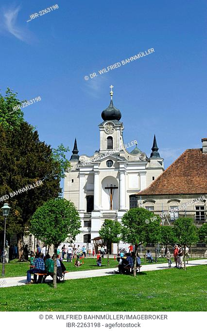 Raitenhaslach Monastery, Burghausen, Upper Bavaria, Bavaria, Germany, Europe