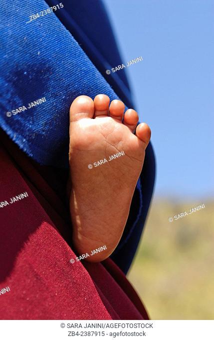 Baby Masai foot, Ngorongoro Conservation Area, Tanzania, East Africa