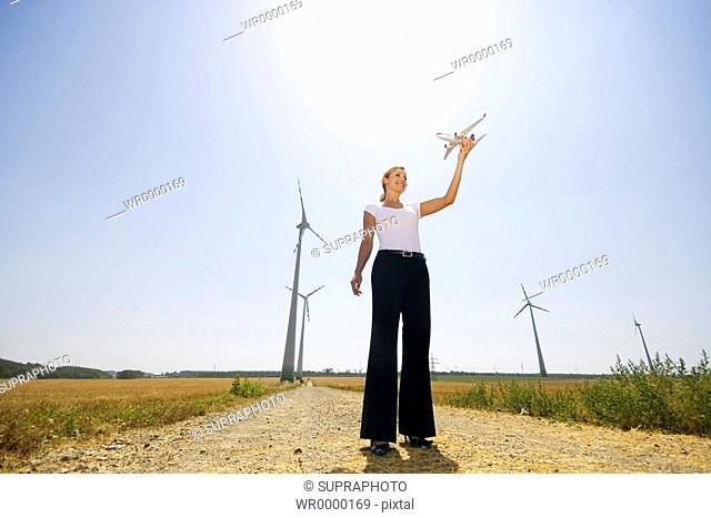 Woman windmachines