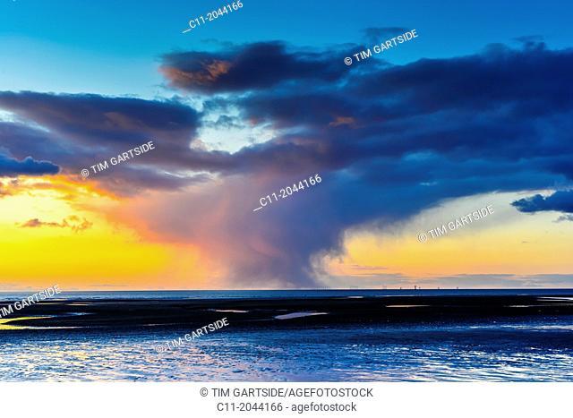 sunset,cleveleys,lancashire,england,uk,europe