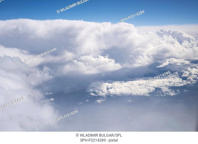 Clouds from aeroplane window