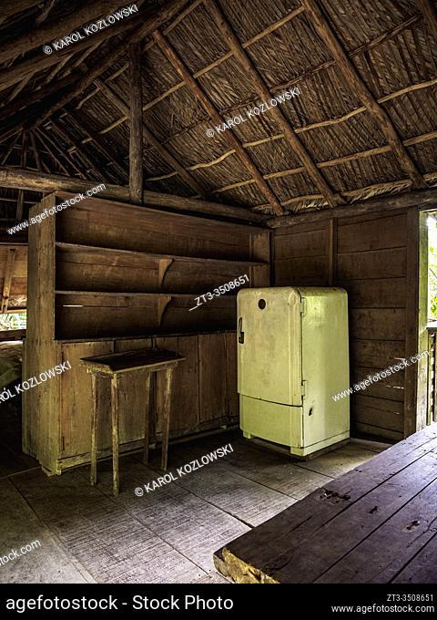 Casa de Fidel, Fidel Castro's House, interior, Comandancia de la Plata, Sierra Maestra, Granma Province, Cuba