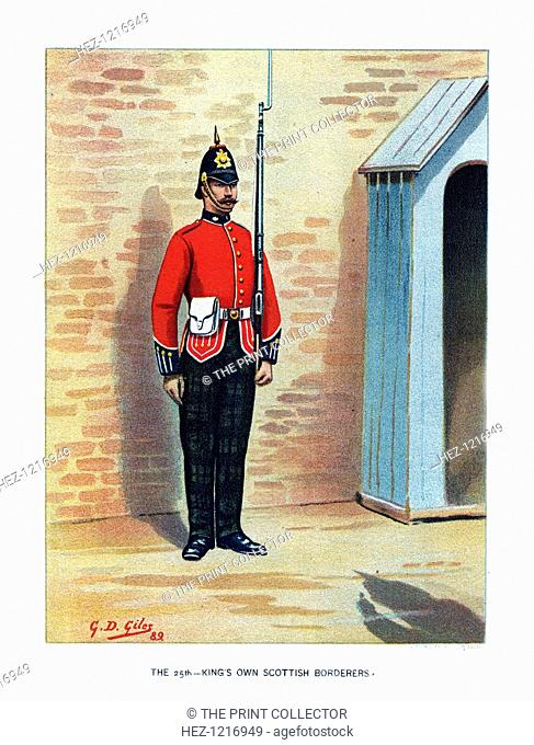 'The 25th King's Own Scottish Borderers', c1890. A coloured lithographic plate from Her Majesty's Army by Walter Richards, JS Virtue & Company, (London, c1890)