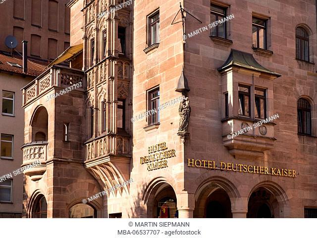 Hotel Deutscher Kaiser in Königstrasse, Lorenz old town, Nuremberg, Central Franconia, Franconia, Bavaria, Germany