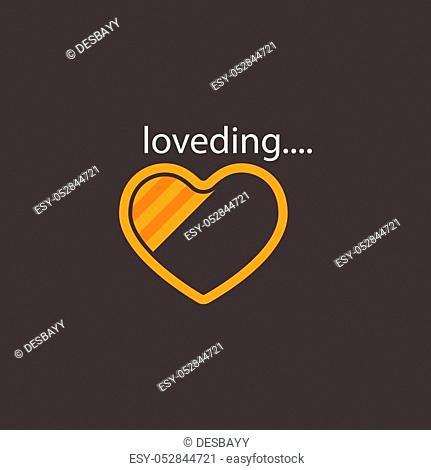 love vector progress loading bar, love loading icon, loading illustration