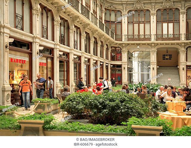 Cafes in the Galleria Subalpina, Turin, Piedmont, Italy, Europe