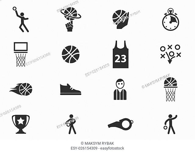 Basketball simply icons for web and user interfaces