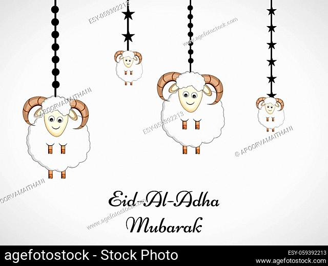 illustration of Muslim festival Eid Al Adha Mubarak
