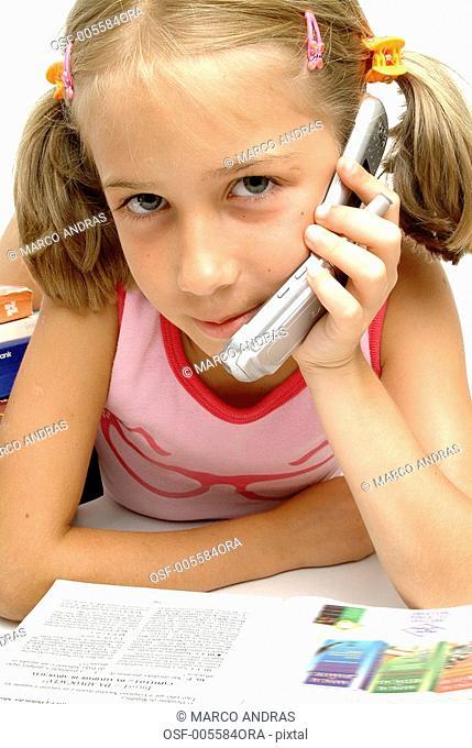 girl talking on the cellphone