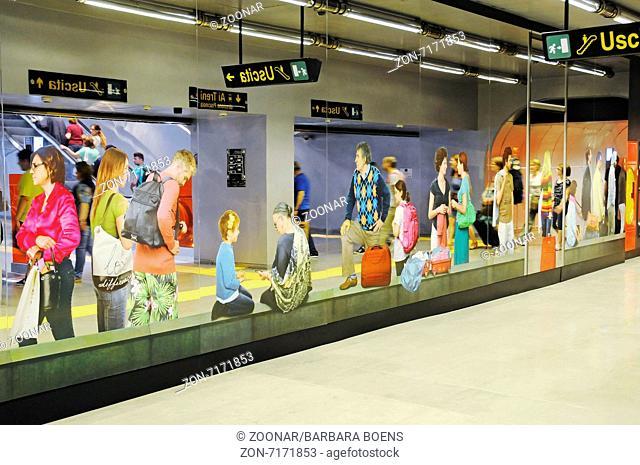 Metro station Garibaldi, Naples, Campania, Italy