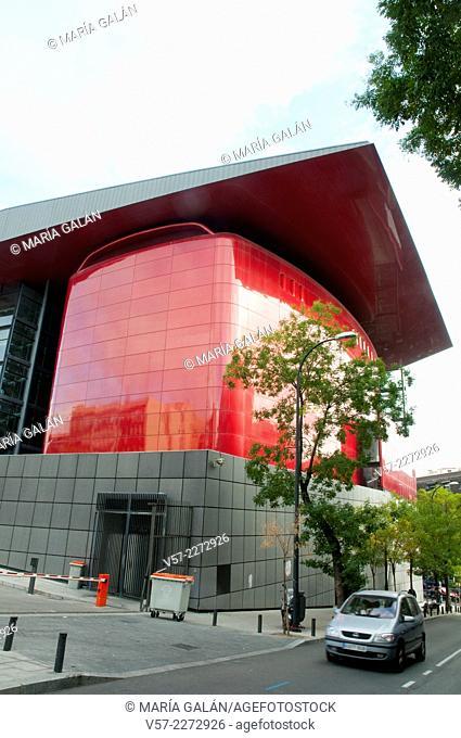 Enlargement by Jean Nouvel. Centro de Arte Reina Sofia National Museum, Madrid, Spain