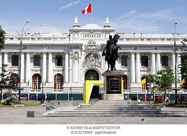 Congress of the Republic of Peru, Congreso de la Republica del Peru, Lima, capital of Peru