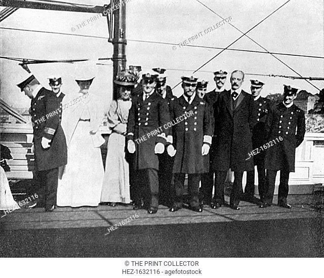 On board the royal yacht Victoria and Albert III, Christiania (Oslo), Norway, 1908. From Queen Alexandra's Christmas Gift Book, Photographs from My Camera