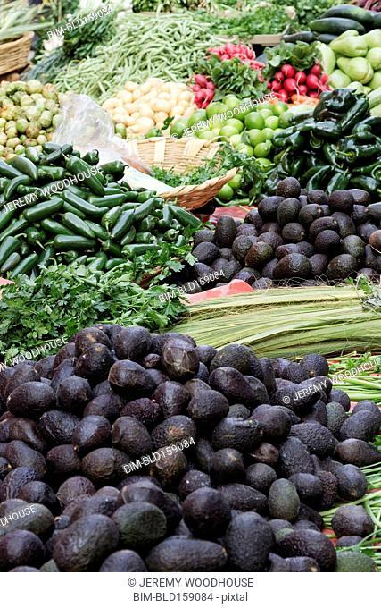Piles of fresh produce