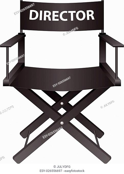 Producer chair on a white background. Vector illustration