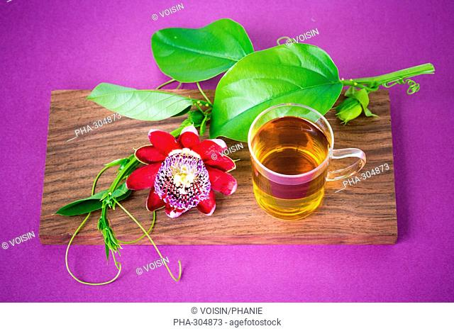 Herbal tea of passiflora
