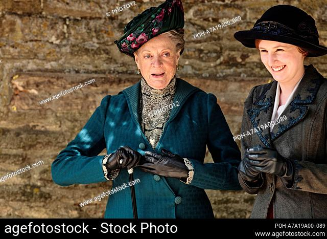 Downton Abbey TV series (2010-2015) UK Written by Julian Fellowes Year: 2011 - Season 2, episode 5 Maggie Smith, Laura Carmichael Restricted to editorial use
