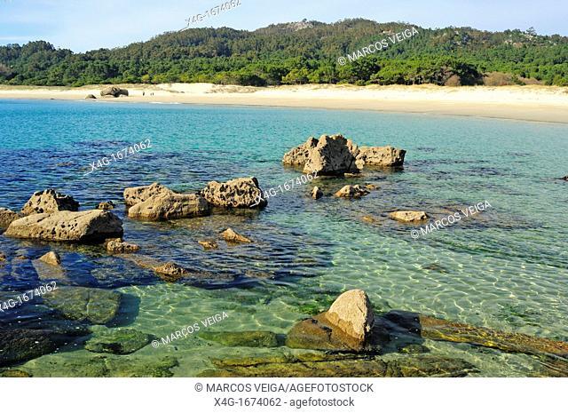 Nerga Beach  Cangas do Morrazo, Pontevedra, Galicia, Spain