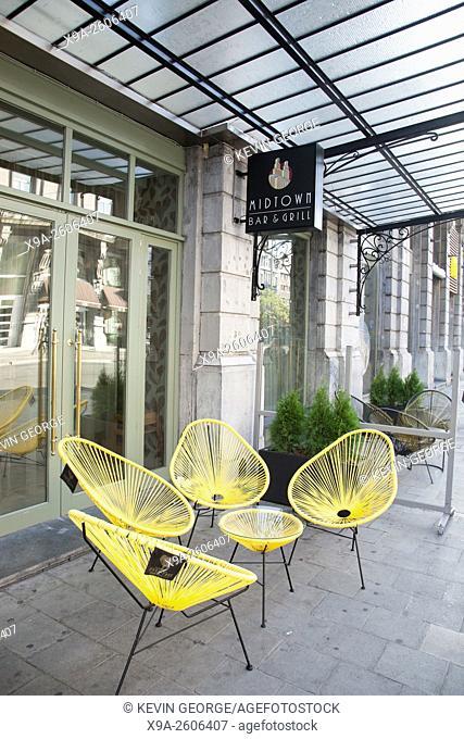 Midtown Bar and Grill Sign; Paul Devaux Street, Brussels; Belgium