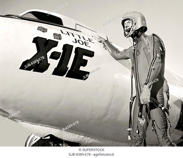 Joe Walker and X-1E