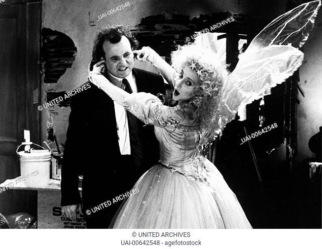 DIE GEISTER, DIE ICH RIEF / Scrooged USA 1988 / Richard Donner Dieser Engel (KAREN ALLEN) wird für Frank (BILL MURRAY) richtig unheimlich .