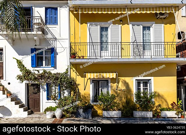 Colourful Houses In The Town Of Parga, Preveza Region, Greece