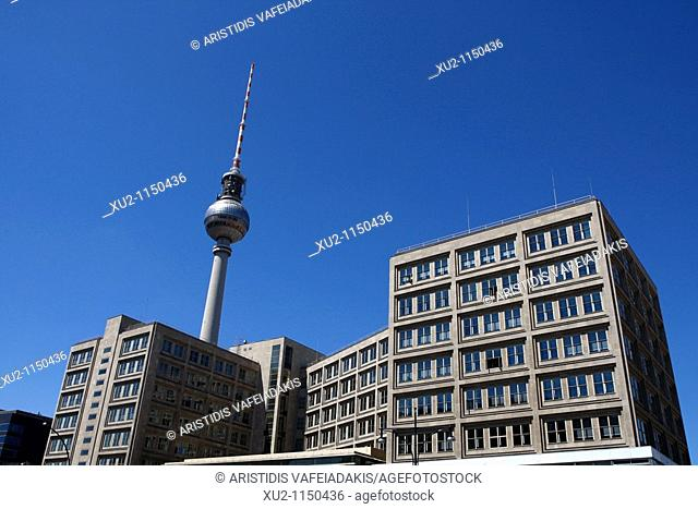 Alexander platz, square, with Germany's tallest structure, the TV tower