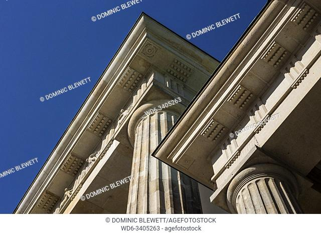 Detail shot of the arch of Brandenburg Gate in Berlin, Germany