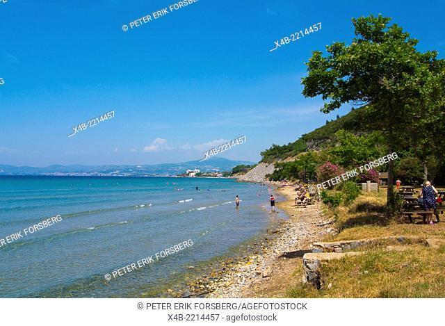 Icmeler beach, Milli Park, Dilek Peninsula National Park, western Turkey, Asia Minor