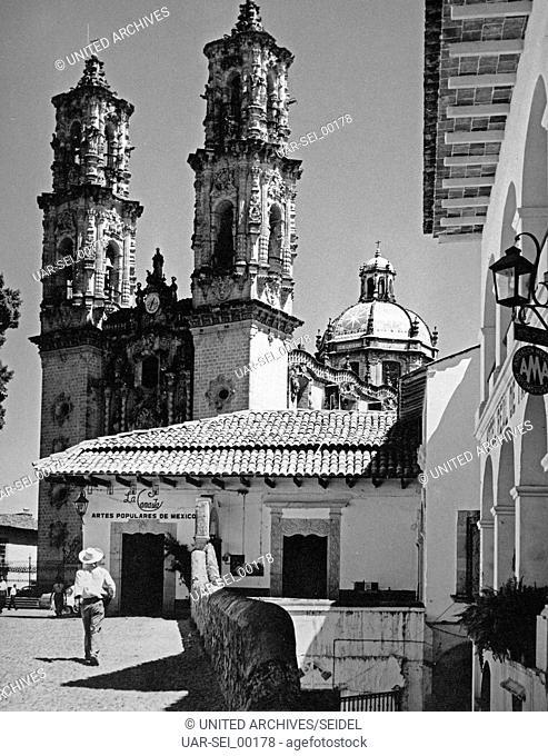 Die Kirche Santa Prisca in Taxco, Mexiko, 1970er Jahre. Santa Prisca church at Taxco, Mexico 1970s