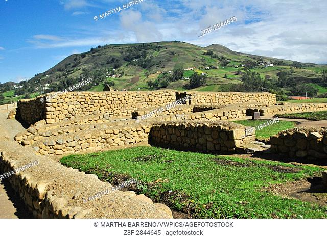 Temple of the Sun, in Inca Ruins. Ingapirca. Ecuador