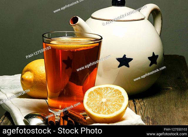 Stockholm, Sweden Tea with lemon, cinnamon and cloves. | usage worldwide. - STOCKHOLM/Sweden