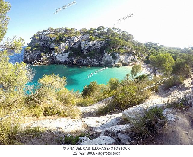 Macarelleta cove Minorca island Balearics Spain