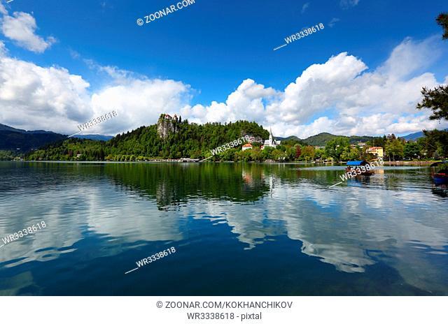 Bled lake (Blejsko jezero) in Slovenia, Europe