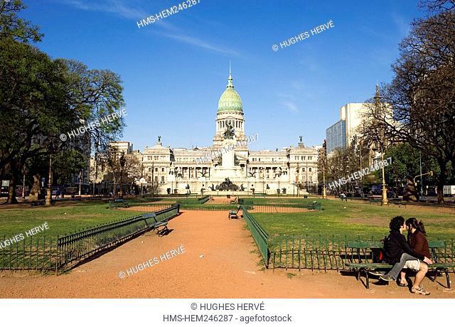 Argentina, Buenos Aires, Plaza Congreso Congress Square