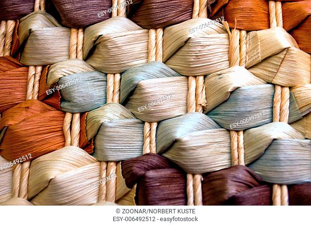 texture of colored basketwork