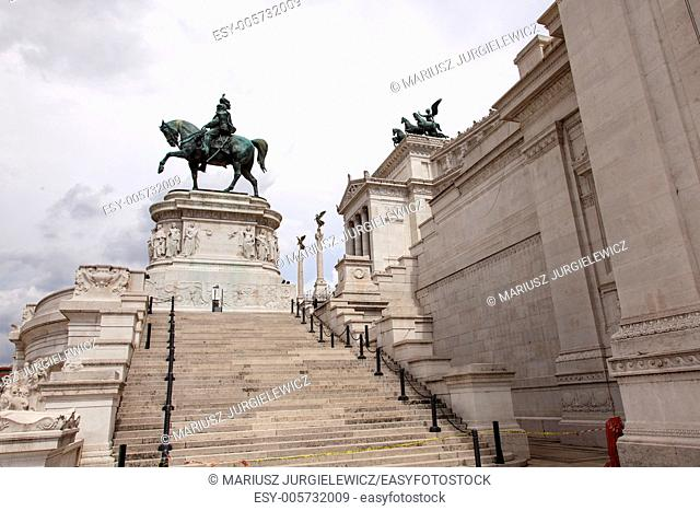 Altare della Patria (Altar of the Fatherland) is a monument built in honour of Victor Emmanuel, the first king of a unified Italy, located in Rome, Italy