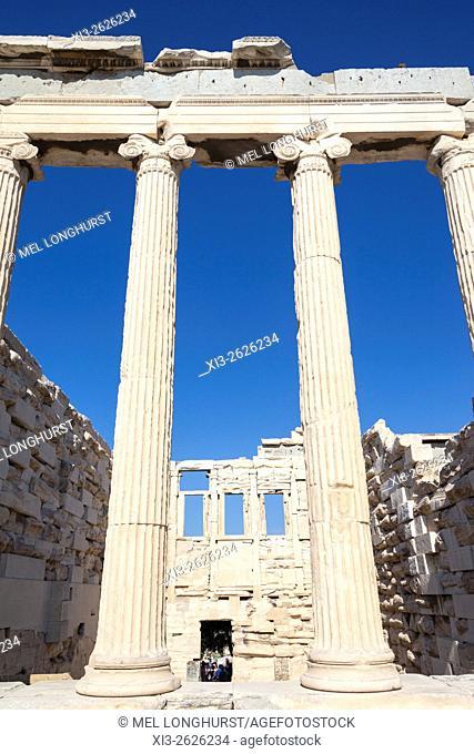 The Erechtheion, at the Acropolis, Athens, Greece