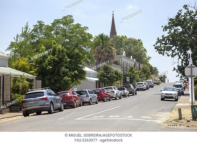 Main Road in Riebeek Kasteel in Western Cape, South Africa
