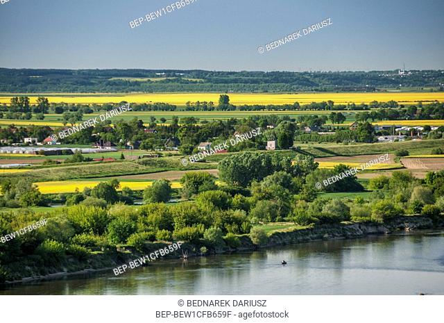 View from the Klimek Tower, Grudziadz, city in Kuyavian-Pomeranian Voivodeship, Poland