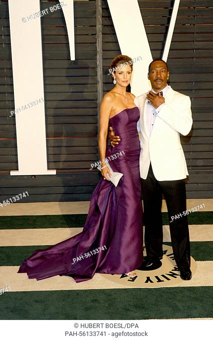 Actor Eddie Murphy and partner Paige Butcher attend the Vanity Fair Oscar Party at Wallis Annenberg Center for the Performing Arts in Beverly Hills, Los Angeles